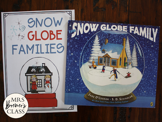 The Snow Globe Family book study activities unit with Common Core aligned literacy companion activities and a craftivity for winter in Kindergarten and First Grade