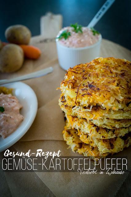 Kartoffel-Rezepte beim Blog-Dinner und gesund essen: Kartoffelpuffer mit Wurzelgemuese