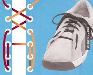 Cara Mengikat Tali Sepatu Model Malas
