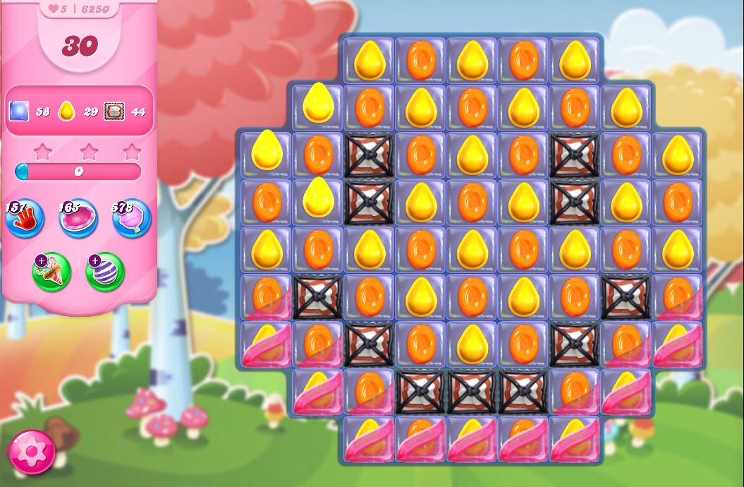 Candy Crush Saga level 6250