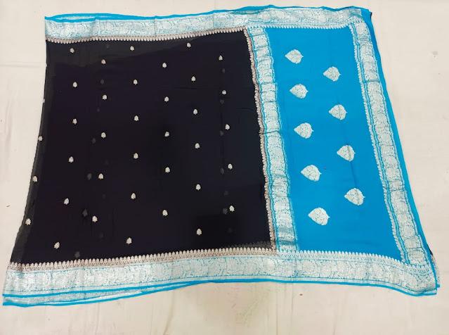Pure Chiffon Banarasi Saree price