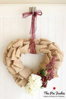 Valentines day burlap wreath step by step directions