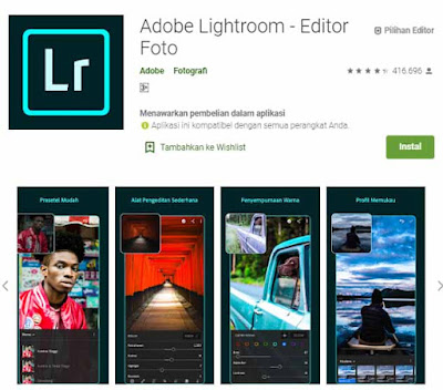 Lightroom adalah aplikasi editing foto wajib di HP android