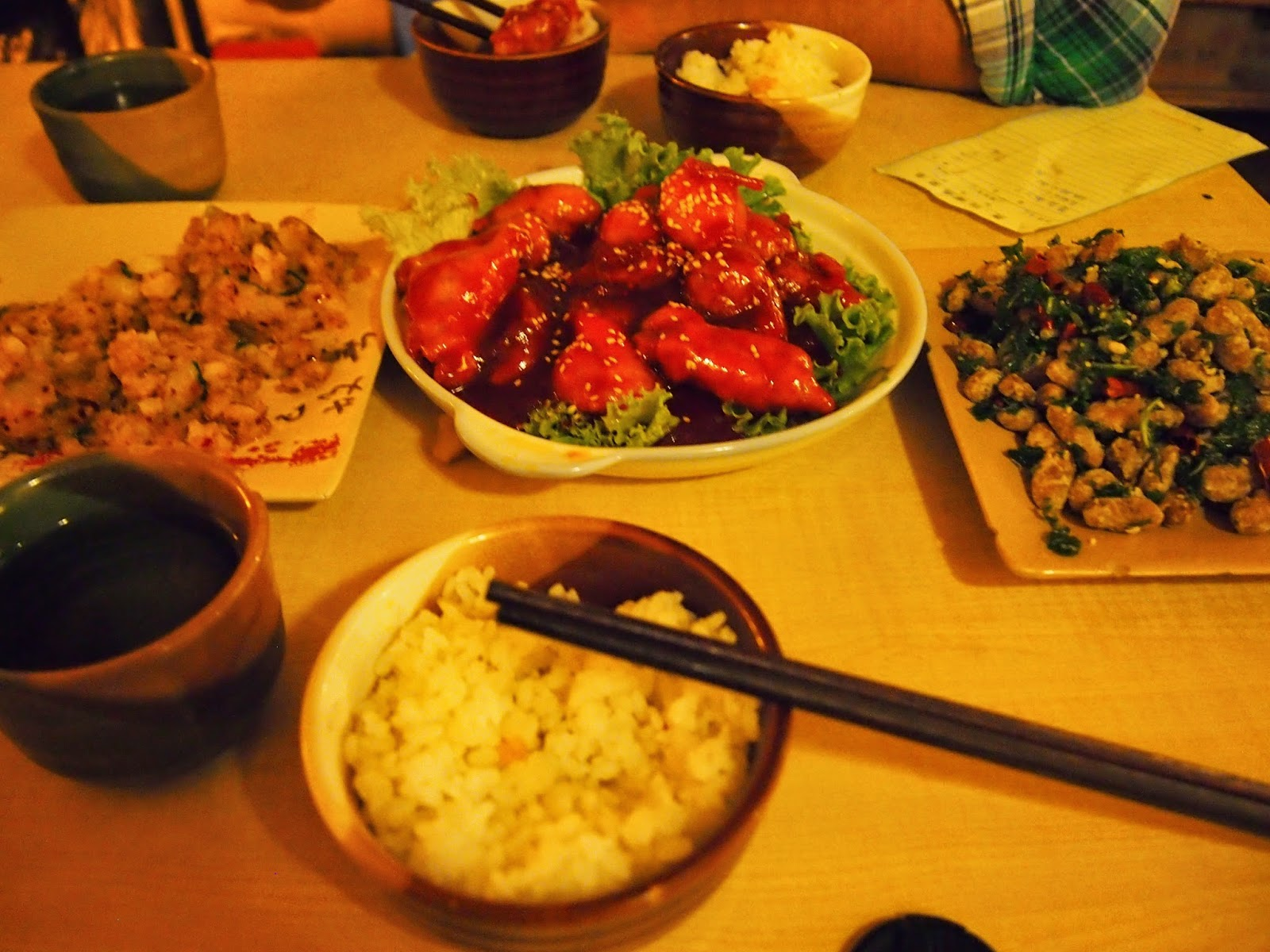 a meal for two in Yunnan province