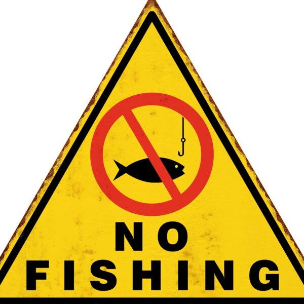 No Fishing B2B Warning Wall Décor