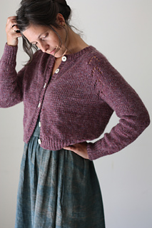 Felix cardigan pattern knit with bulky weight yarn
