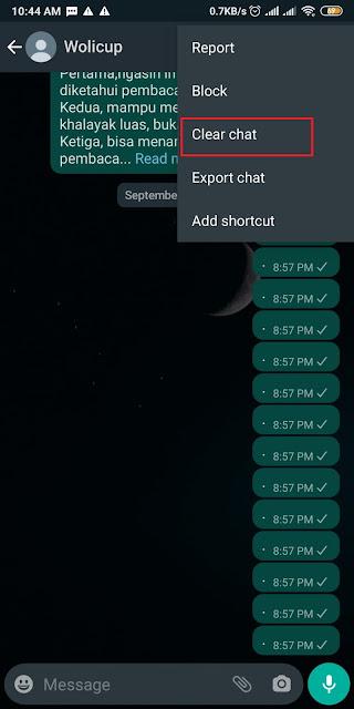 Cara Membersihkan Chat Whatsapp 1