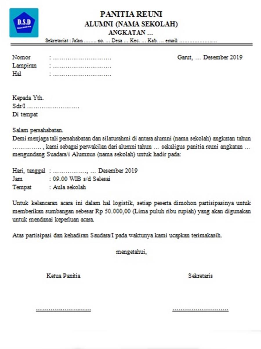 format surat undangan reuni sekolah