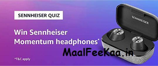 Amazon Sennheiser Quiz Answer Win Sennheiser Headphone - Freebie