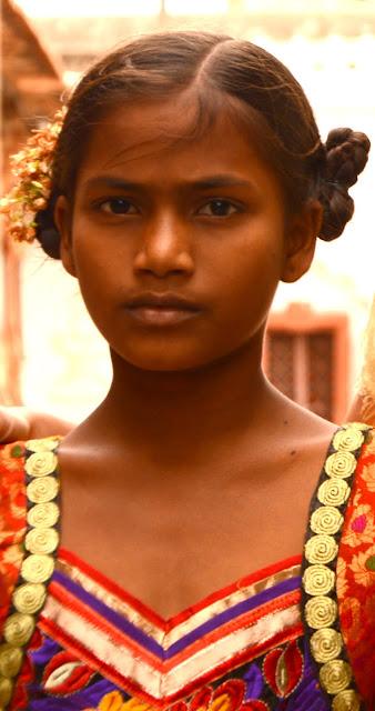 Rostro de niña india