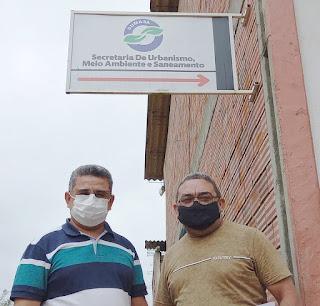 O vereador Nal se reúne com secretários da PMG e pede saneamento para o conjunto Lucas Porpino