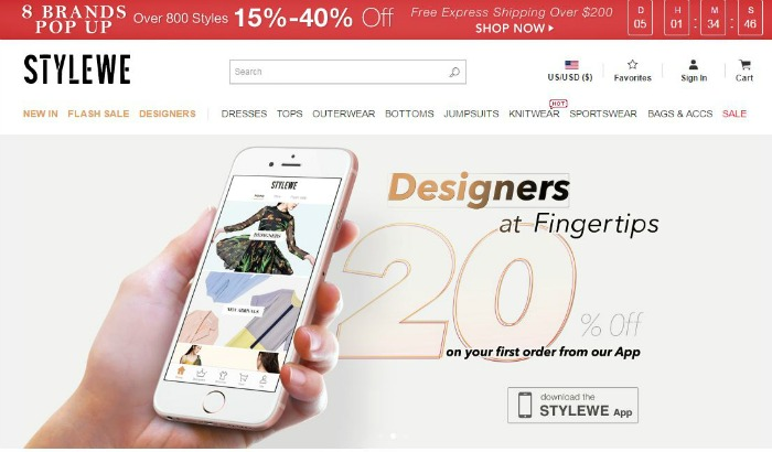 StyleWe Online Shopping
