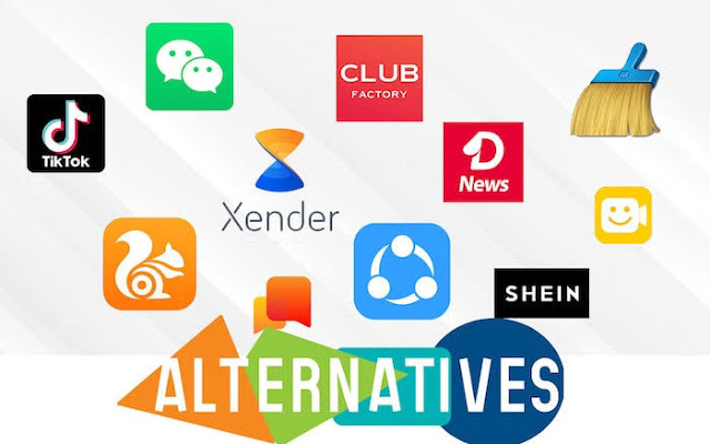Best alternatives for banned chinesse apps