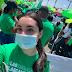 Hija del presidente Abinader participa en la marcha por las 3 causales
