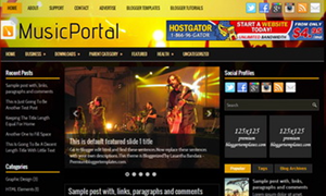 MusicPortal Blogger Template Responsive