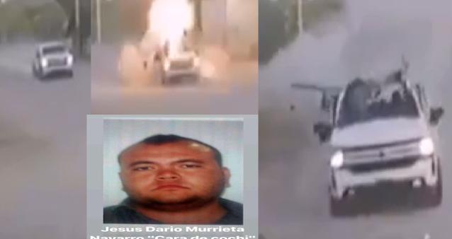"""Video: Sobrino de Caro Quintero rafaguea casa de la Abuelita de """"El Durango"""" del CDS, a El Durango le estallo una granada en su Troca"""