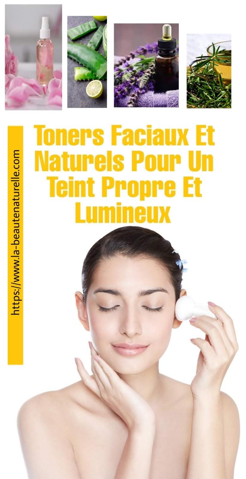 Toners Faciaux Et Naturels Pour Un Teint Propre Et Lumineux
