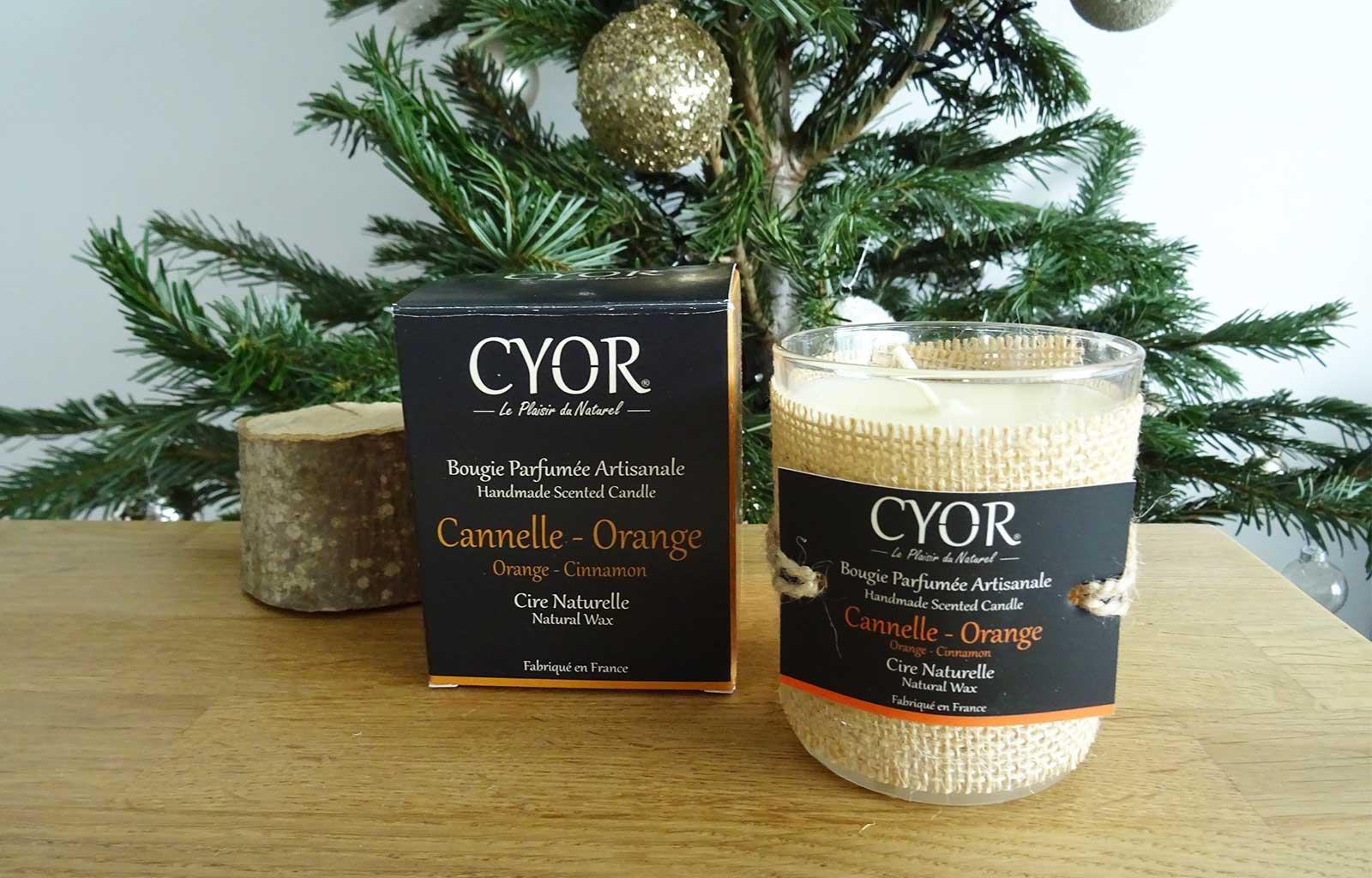 bougie naturelle artisanale cyor cannelle orange
