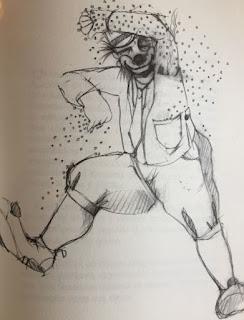 dibujo de payaso para el bestiario del circo