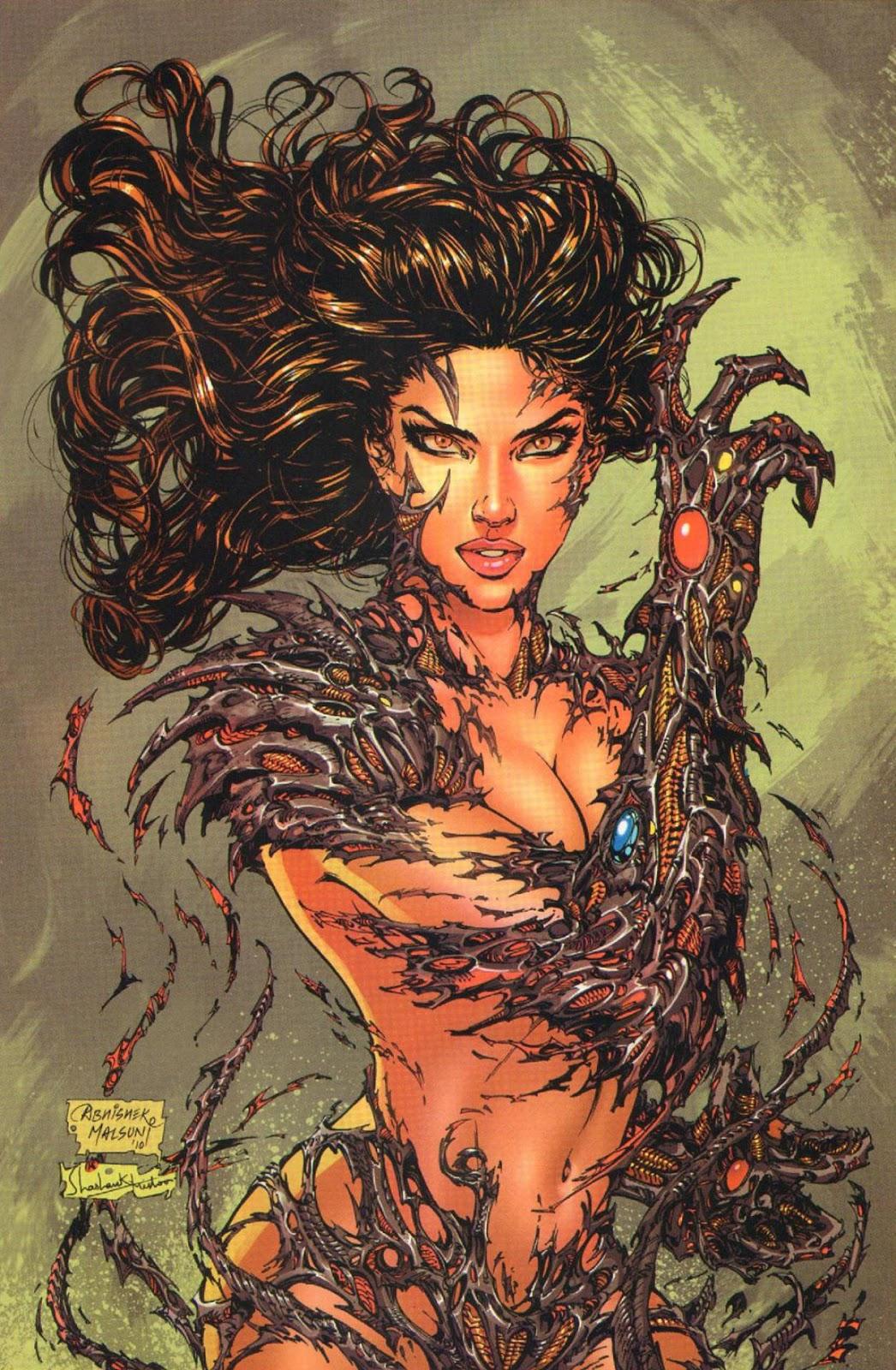 10 Female Superheroes who are practically naked. Sara Pezzini - Witchblade