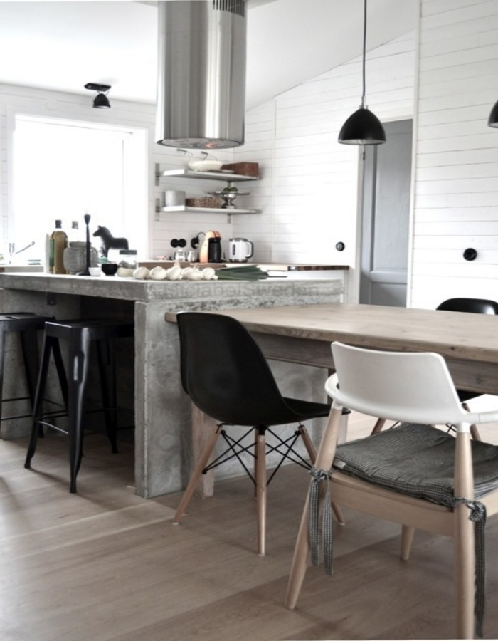 Island kitchen benches inspiration - Kitchen island dining table ...