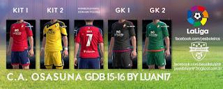 Osasuna Adidas [2015-2016] Pes 2013