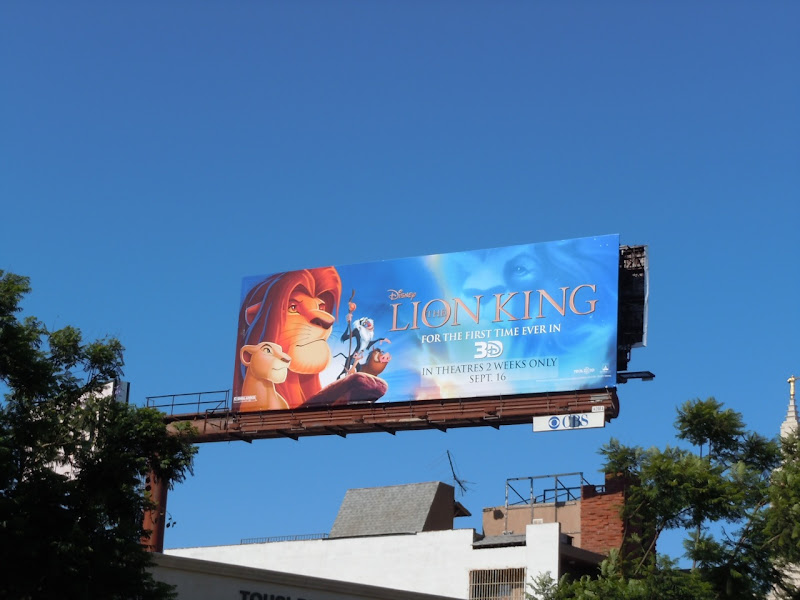 Disney Lion King movie billboard