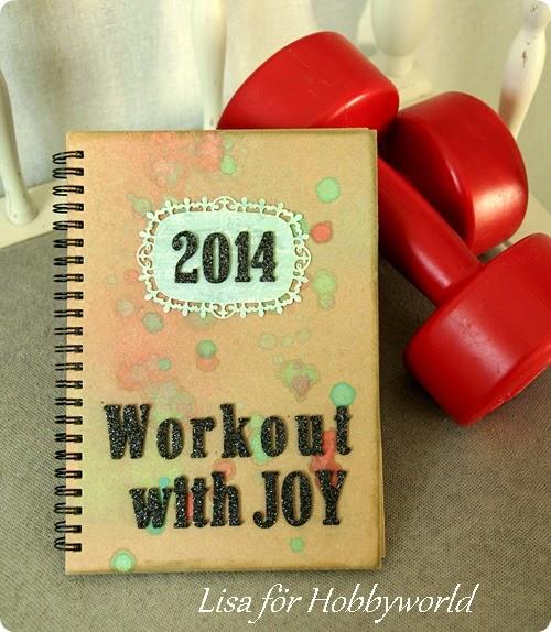 En enkel bruk bok blev en rolig träningsdagbok!