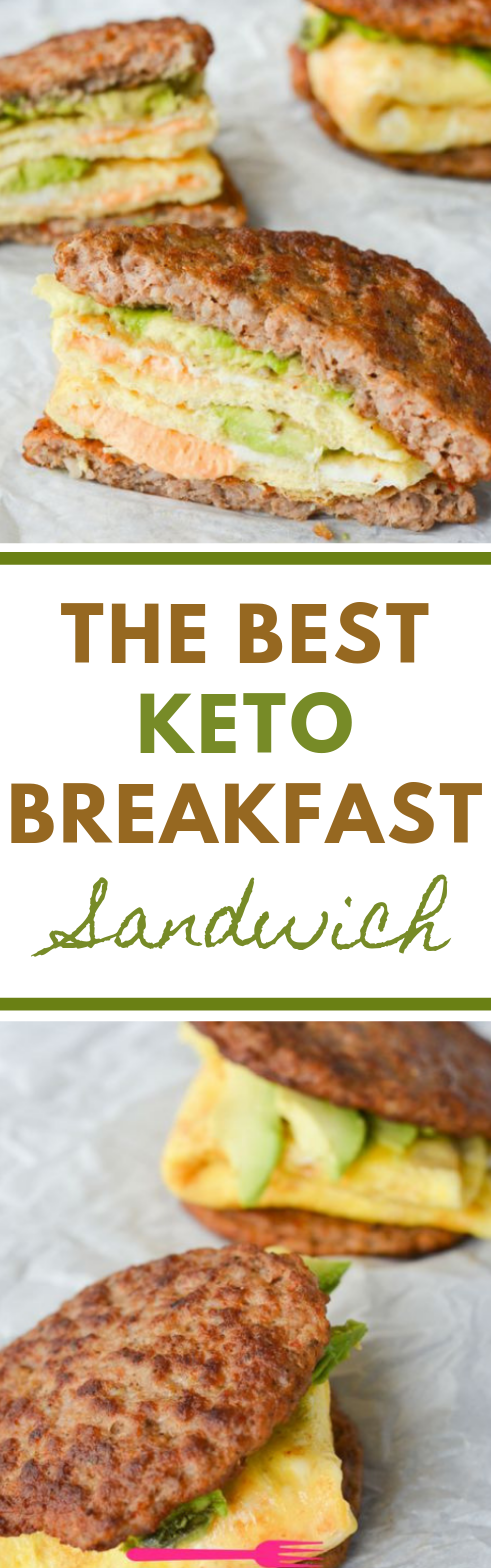 MY FAVORITE KETO BREAKFAST SANDWICH #healthyeating #sandwich #dietketo #paleo #whole30