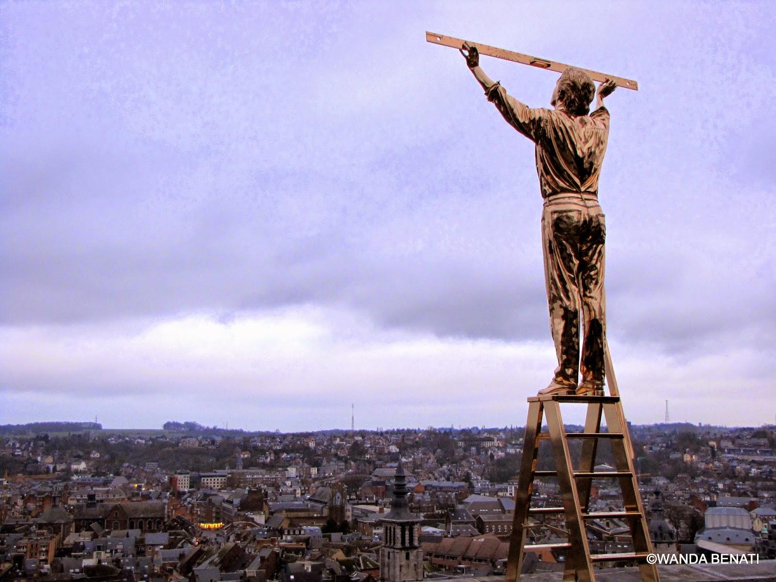 Jan Fabre, scultura esposta alla Cittadella di Namur