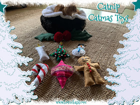 Crafting with Cats Catmas Special - Part 4  ©BionicBasil® Catmas Catnip Toys with Fudge