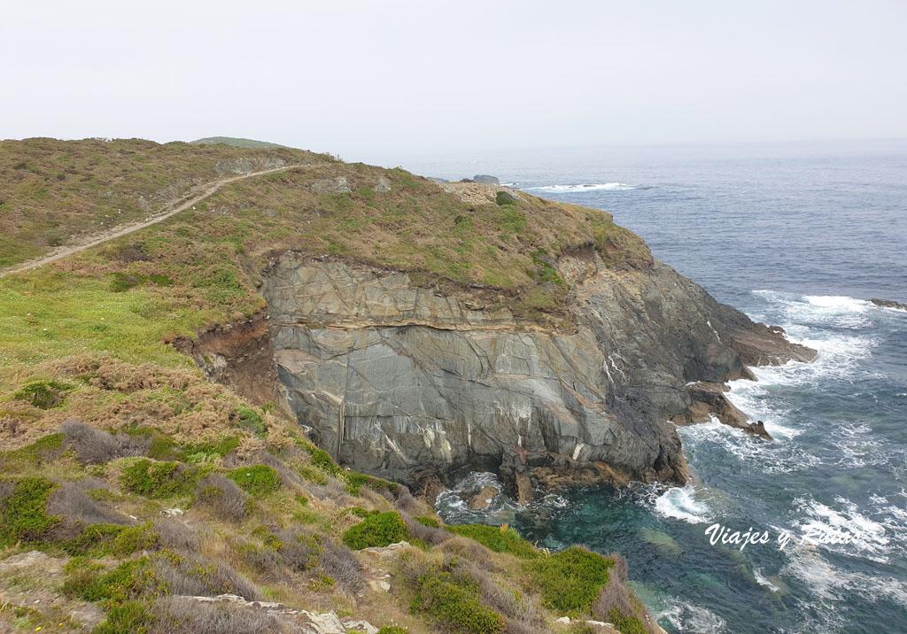 Camino junto al acantilado Senda costera Naviega, Asturias