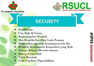Lowongan Kerja Security RSUCL Banda Aceh