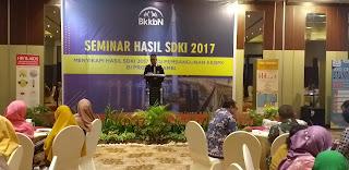 Kaper BKKBN Provinsì Jambi Secara Resmi Membuka Seminar Hasil SDKI 2017.