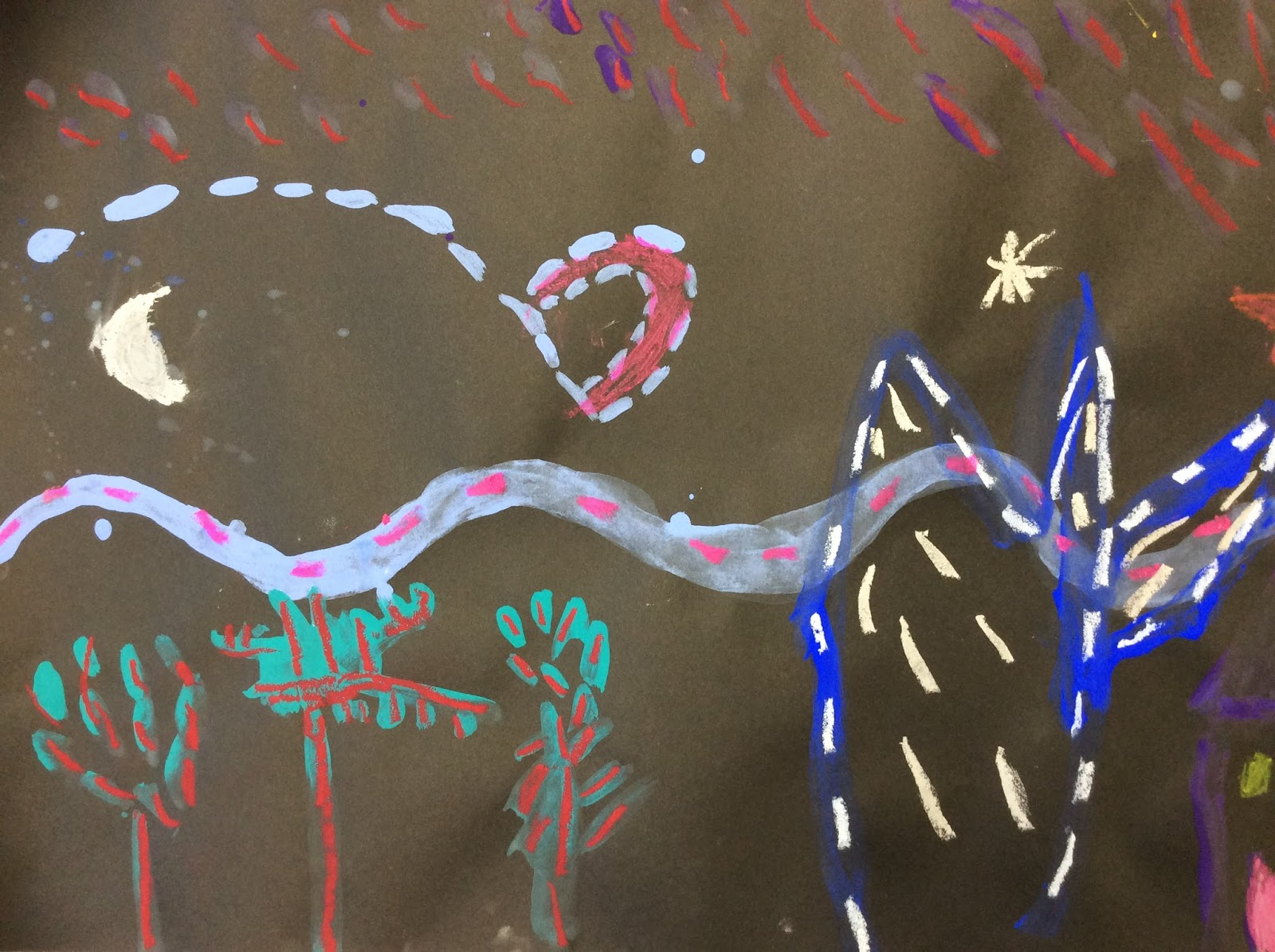 How To Make Straight Line Art : Art with mrs elliott starry night and types of line