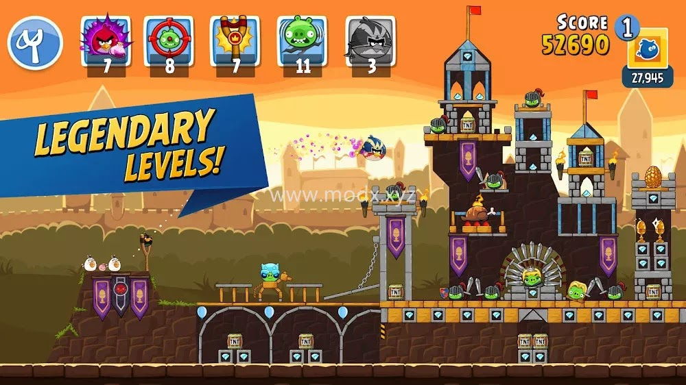 Angry Birds Friends (MOD, Unlimited Powers/Unlocked)
