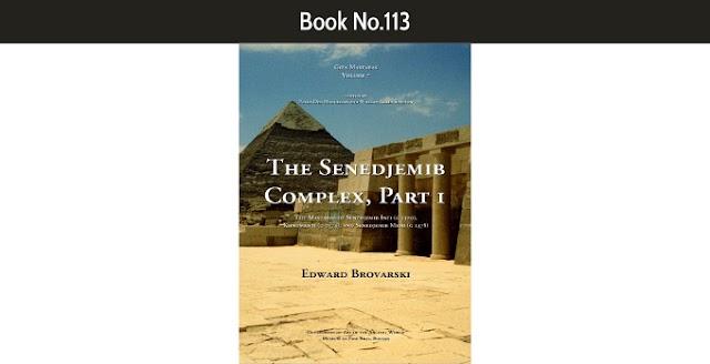 Book No.113 The Senedjemib Complex, Part 1