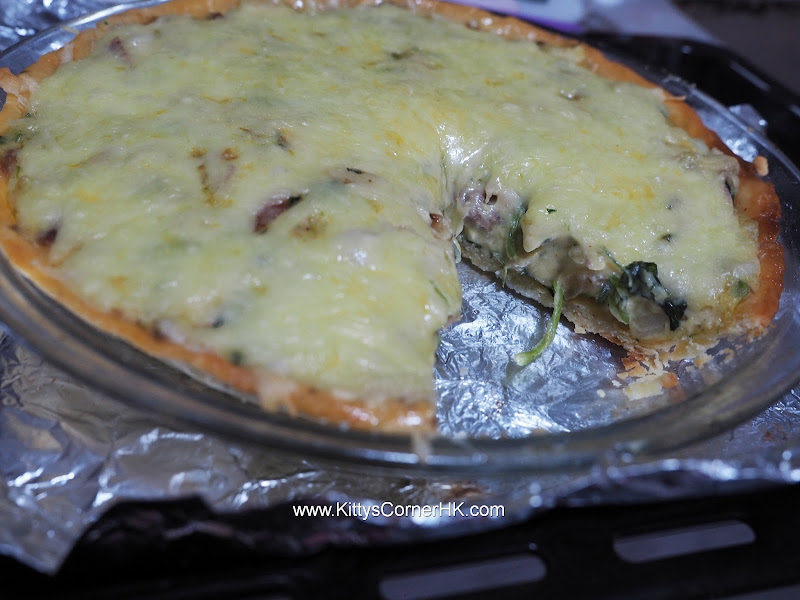 Spinach with Beef Quiche DIY recipe 菠菜牛肉批自家食譜