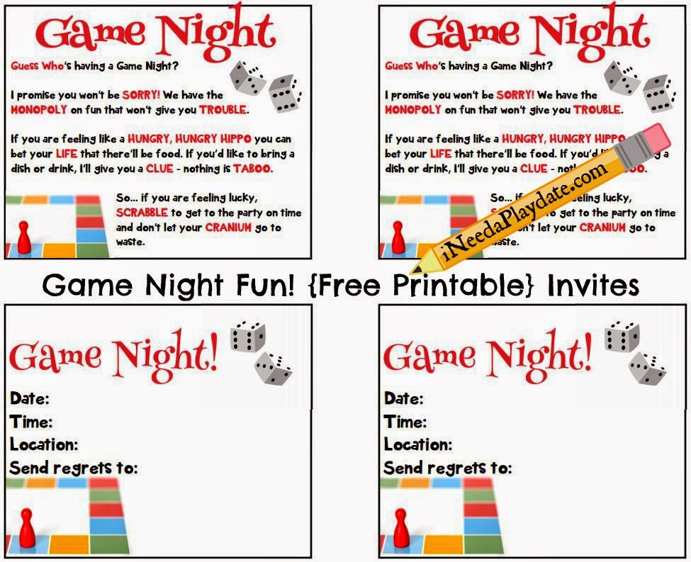 Game Night Fun plus Printable Invites! #HasbroGamingParty