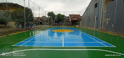 Warga Perumahan Puri Cendana Apresiasi Pembangunan Lapangan Futsal Dari Pemkab