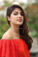 Rhea Chakraborty in Red Crop Top and Denim Shorts Spicy Pics ~  Exclusive 147.JPG