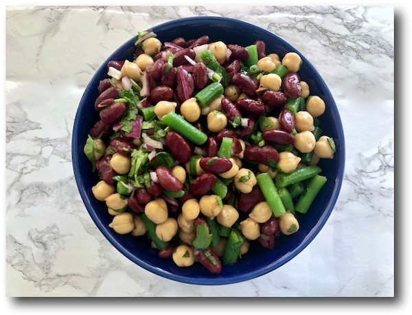 Tamarind sauce three bean salad
