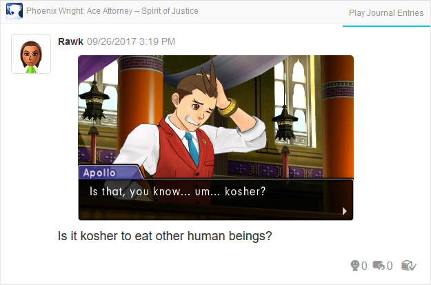 Phoenix Wright Ace Attorney Spirit of Justice Apollo kosher