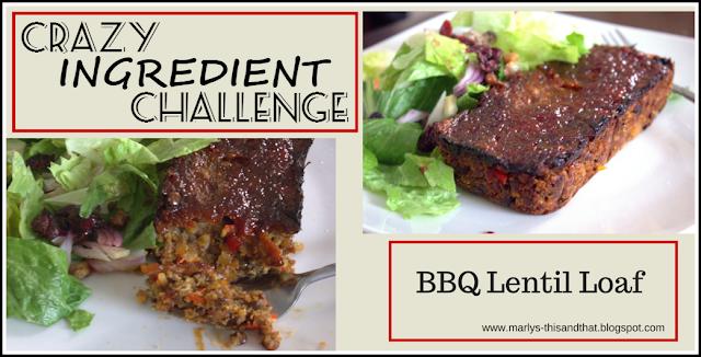 Crazy Ingredient Challenge: Lentils and Molasses ~ BBQ Lentil Loaf