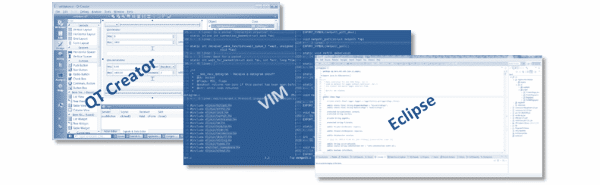 Other programming IDE QT Creator, VIM, Eclipse