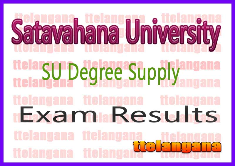 SU 1st 2nd 3rd Year Results Degree Satavahana University 1st 2nd 3rd Year Supply Results