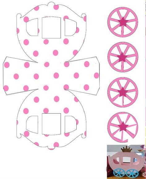 Pink Polka Dots: Free Printable Carriage Shapped Box.