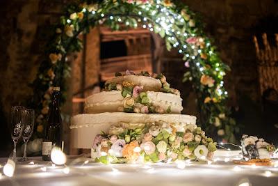 fiori veri torta nozze