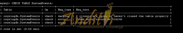 Cara Mengatasi No Syslog Records Found di Loganalyzer-anditii.web.id