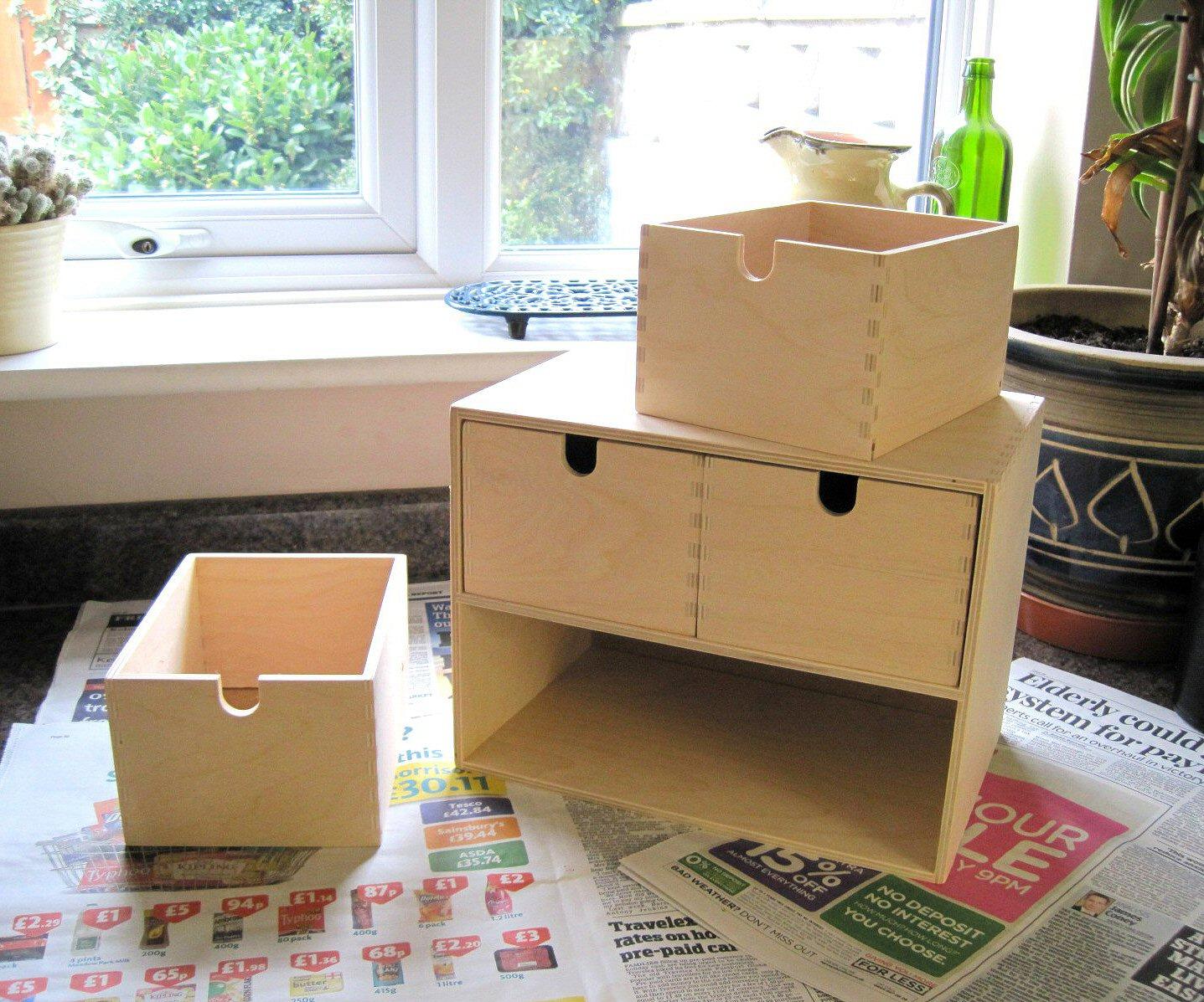 Transform your ikea storage boxes - Mini cassettiera ikea ...